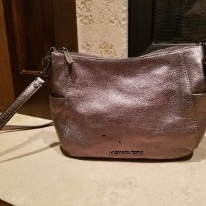 Michael Kors Silver Metalic Cross body bag